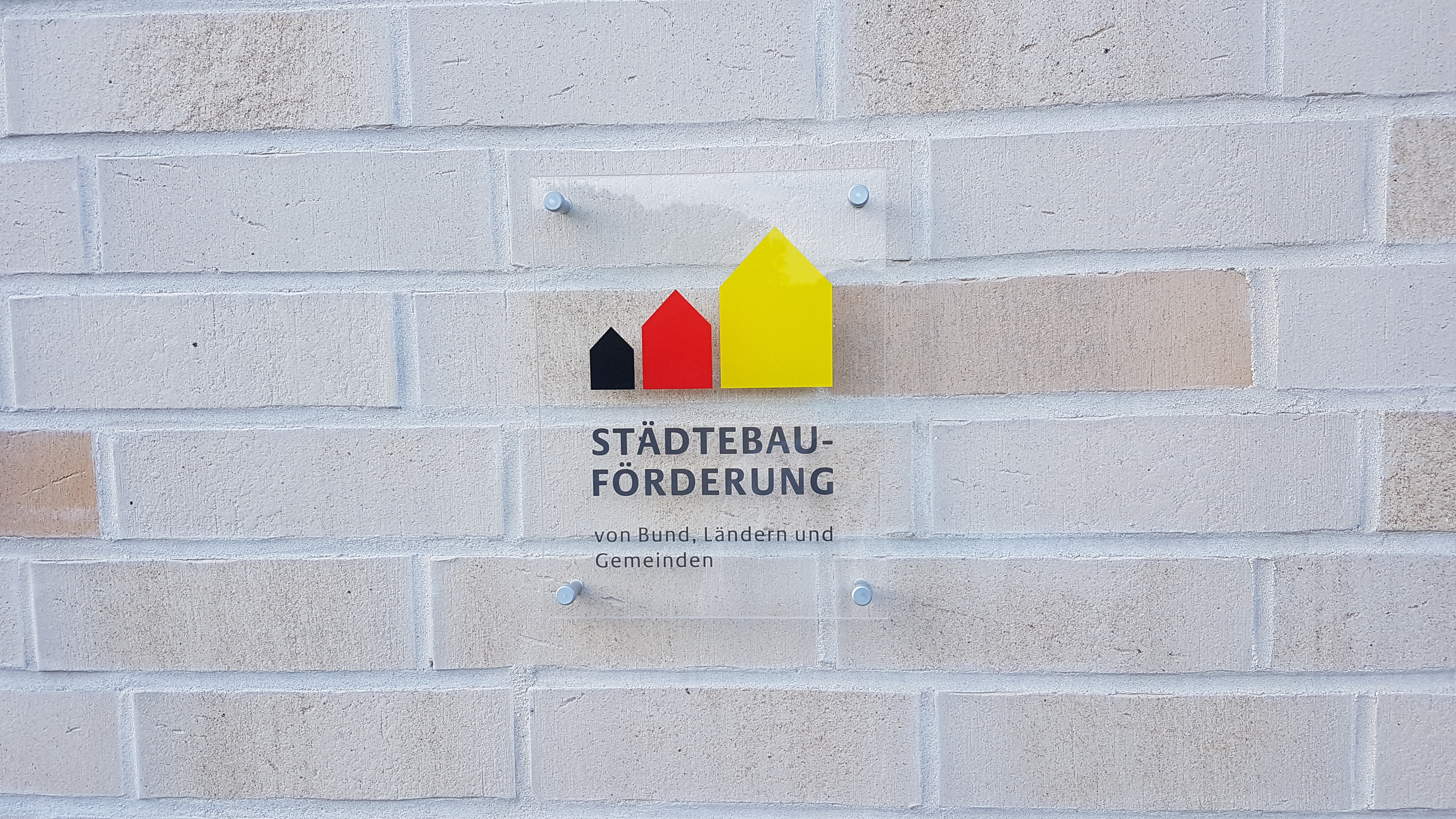 Plakette Städtebauförderung