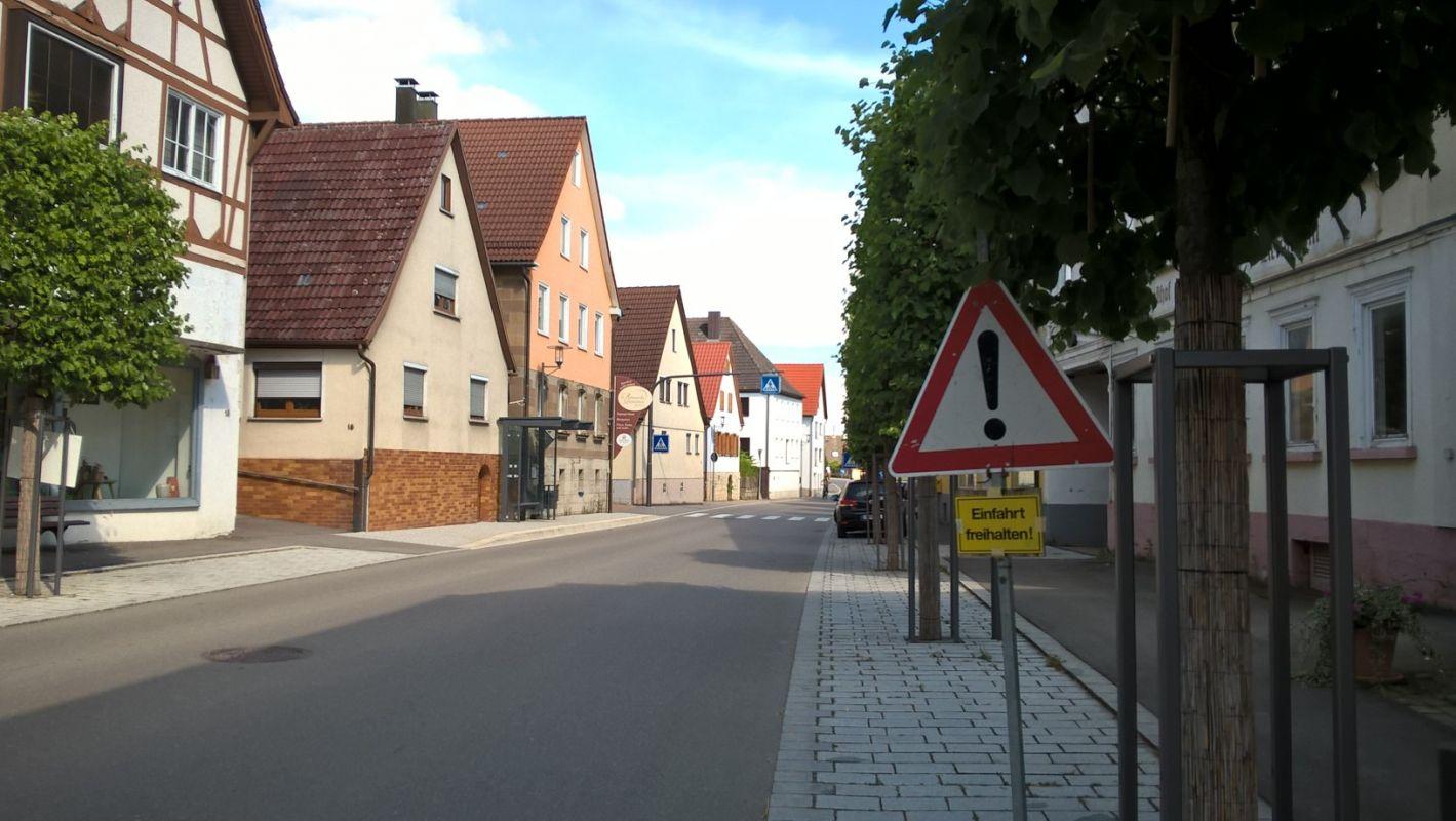 Gerabronn Stadtmitte Hauptstraße 2016