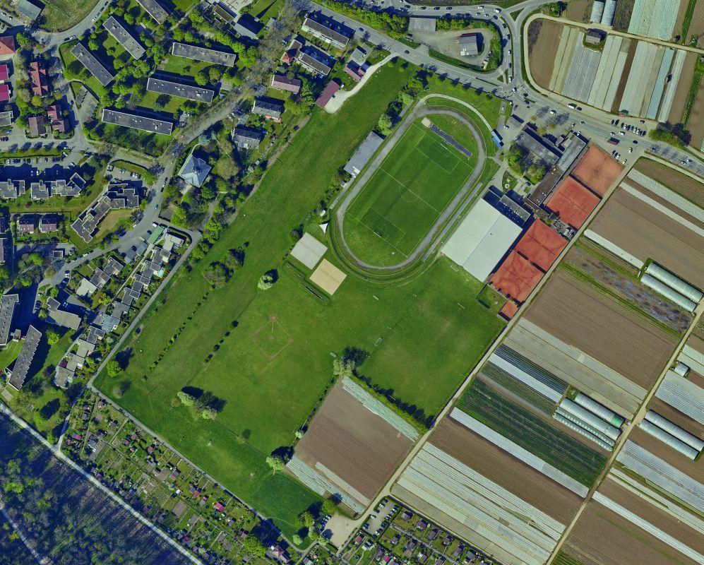 Orthophoto des Sportsparks Weil 2016