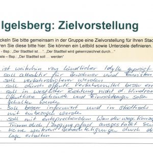 Zielvorstellung Igelsberg