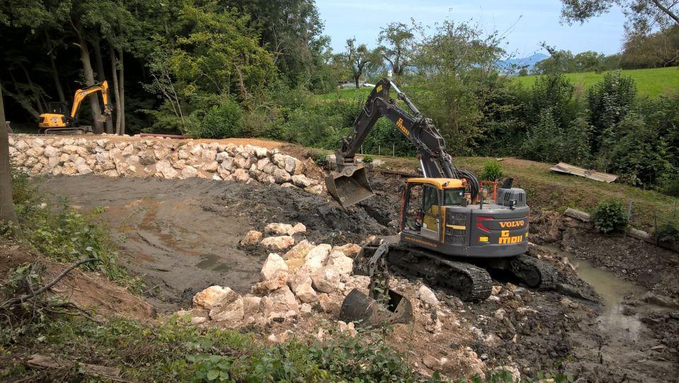 Bauarbeiten am Spielplatz Feuersee