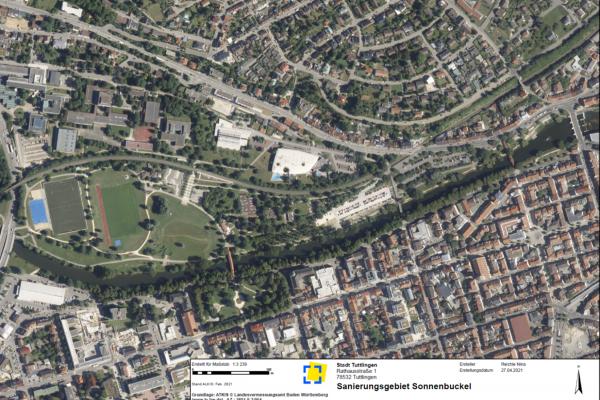Luftbild des Untersuchungsgebiets