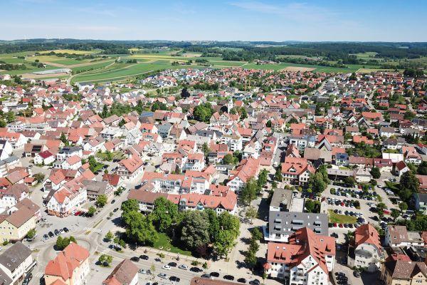 Luftbild von Laichingen