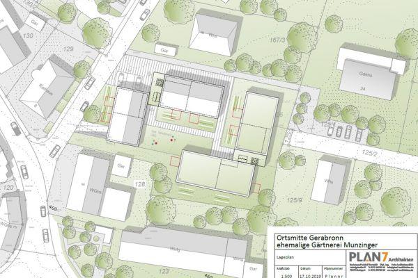 Entwurf Lageplan (Plan 7 Architekten)