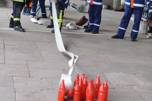 Feuerwehrmänner bei der Übung