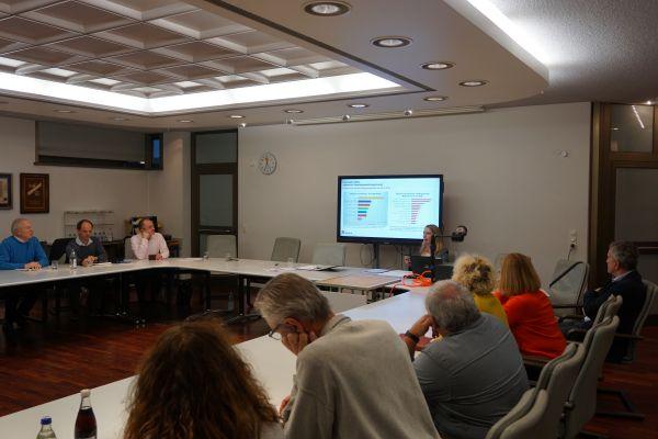Präsentation während der Gemeinderatsklausur