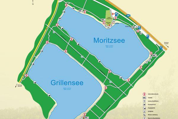 Übersichtskarte Naunhofer Seen