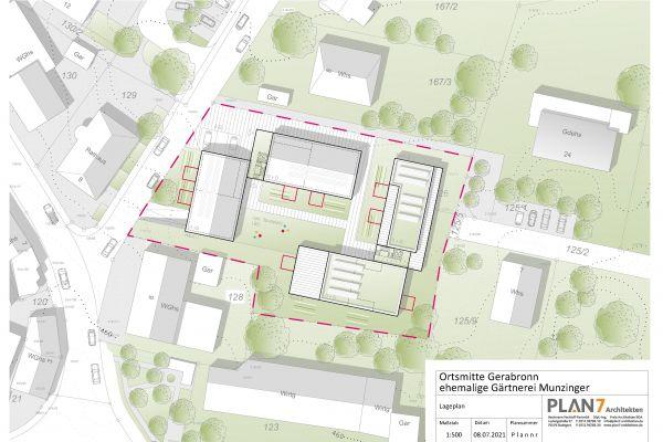 Lageplan des Bauprojekts