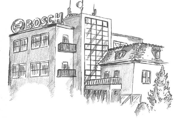 Zeichnung Bosch-Areal