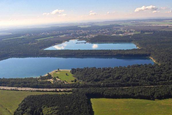 Luftaufnahme Naunhofer Seen