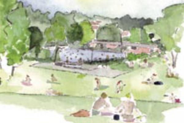 Zeichnung Freiraum in Hechingen