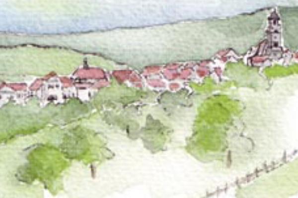Zeichnung von Hechingen