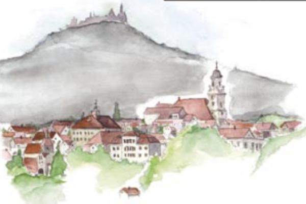 Zeichnung des Stadtbilds